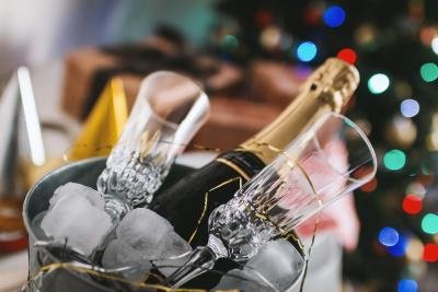 Stilet omgivelser skal have stilet champagneglas