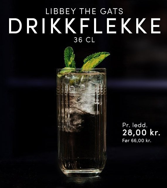 LIBBEY THE GATS DRIKKEGLAS, 36 CL